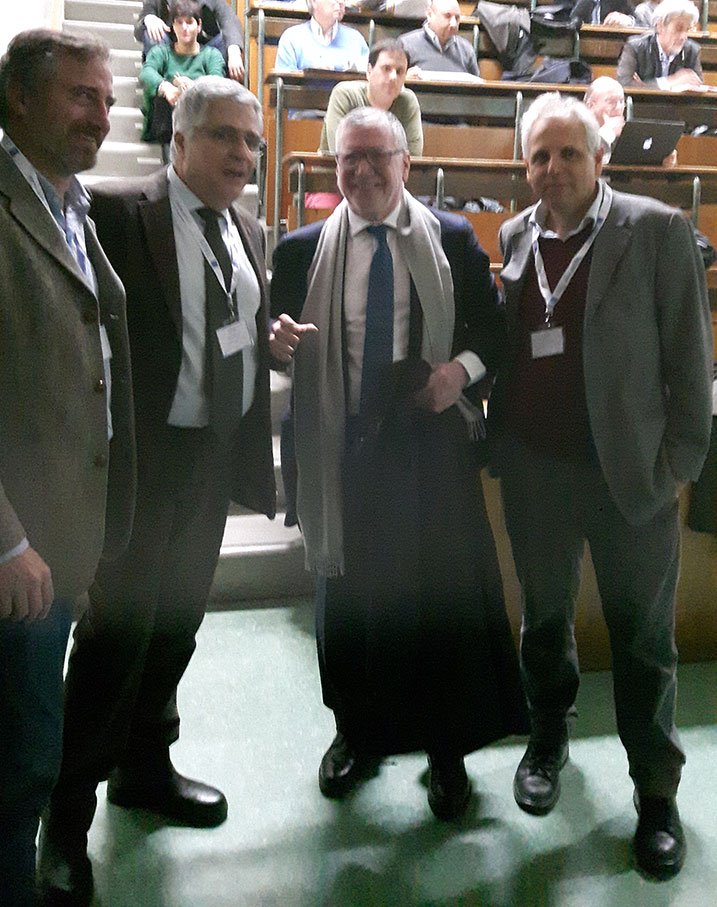 da sinistra: Francesco Cataliotti, Paolo Mataloni, Massimo Inguscio, Paolo De Natale